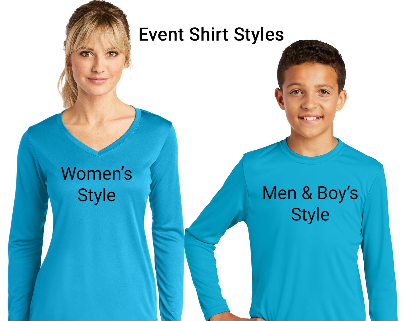 A&S Event Shirt Styles