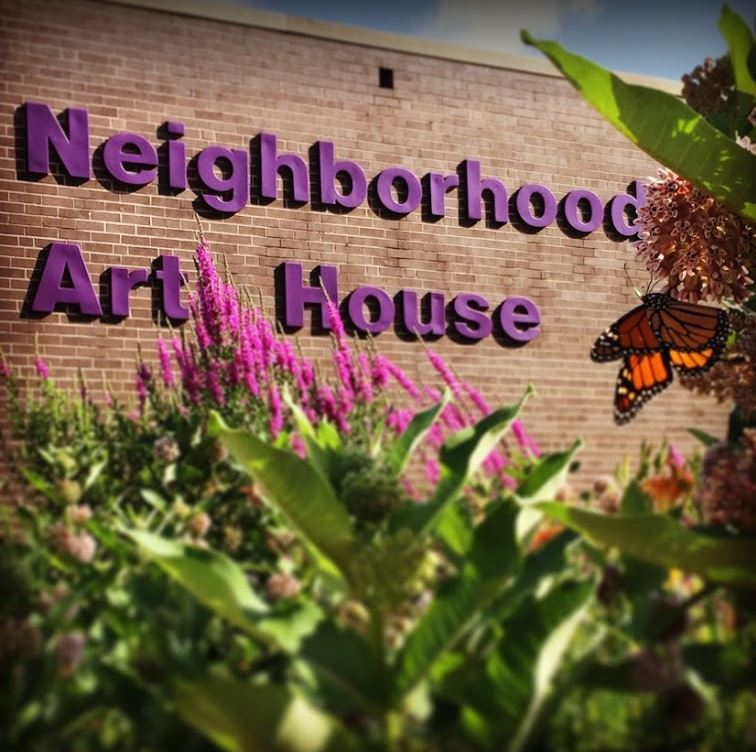 Inner-City Neighborhood Art House Building Exterior