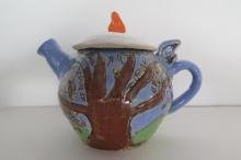 Hand-built clay tea pot - Neighborhood Art House