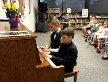 Piano duet - Spring Recital