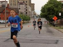Congratulations to Declan Toohey, age 11, who was the first place finisher in the Fun Run for Kids.