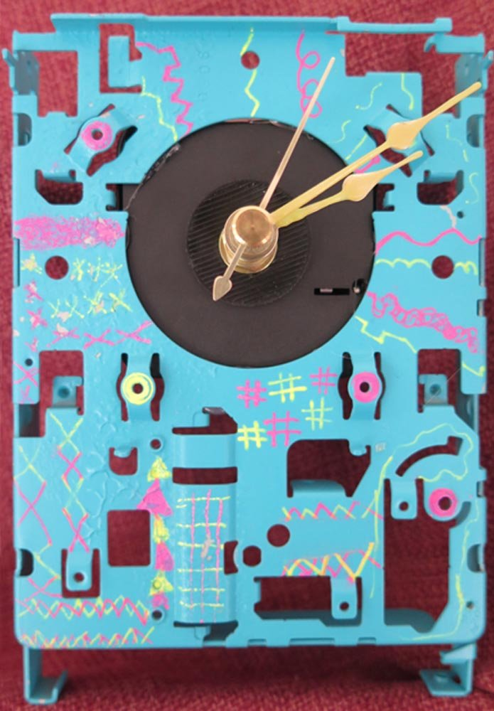 Mixed Media Repurposed Clock. Ana (age 9) - 2017