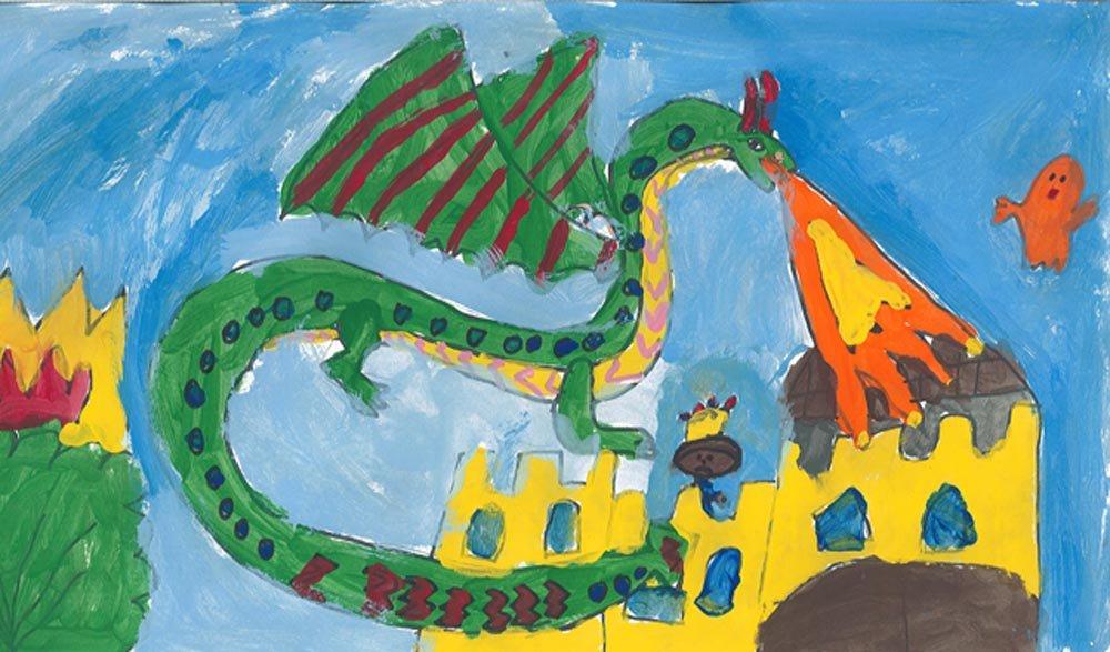 Tempera Painting. Anastasia (age 7) - 2016