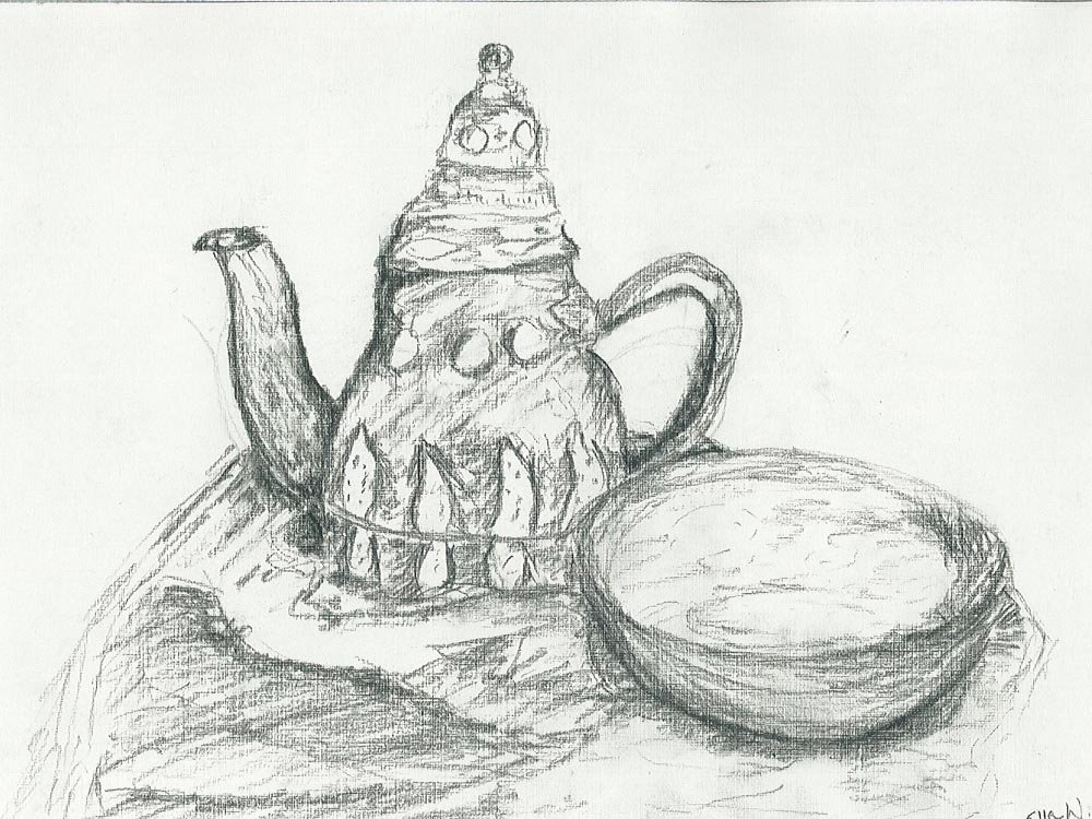 Charcoal Drawing. Ella (age 12) - 2017