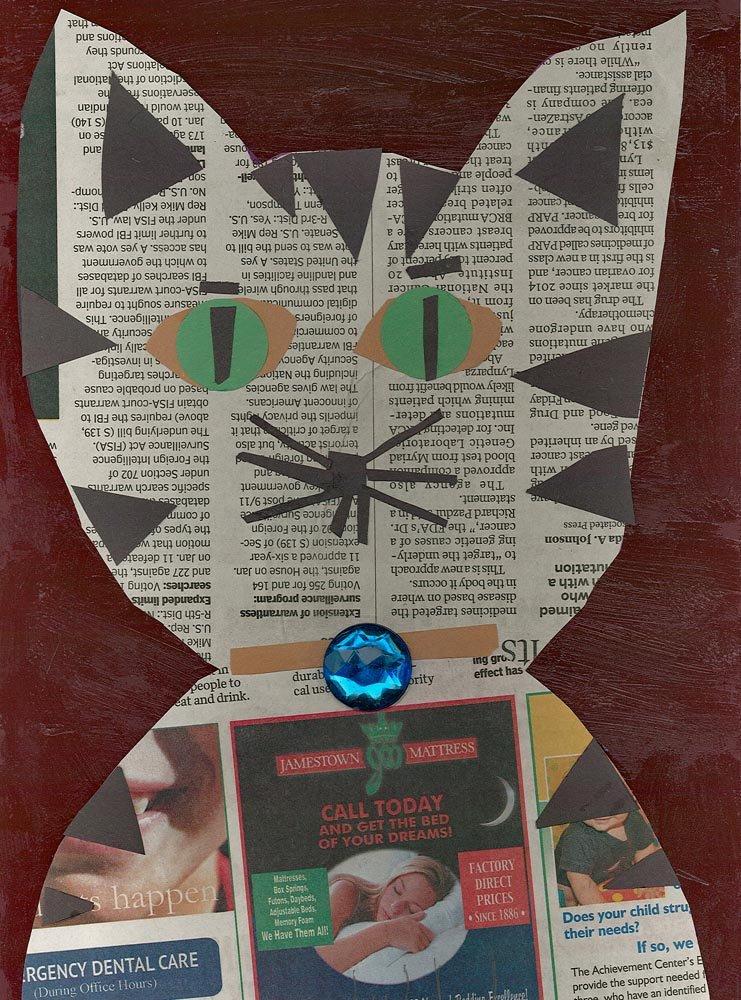 Cut Paper Collage. Elvira (age 7) - 2018