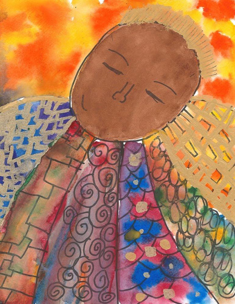 Marker and Watercolor Painting. Garang (age 11) - 2018