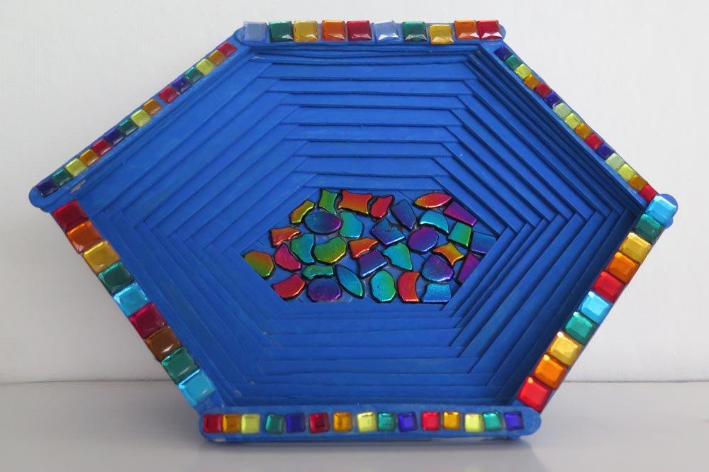 Mixed Media Mosaic Bowl. Joaly (age 12) - 2017