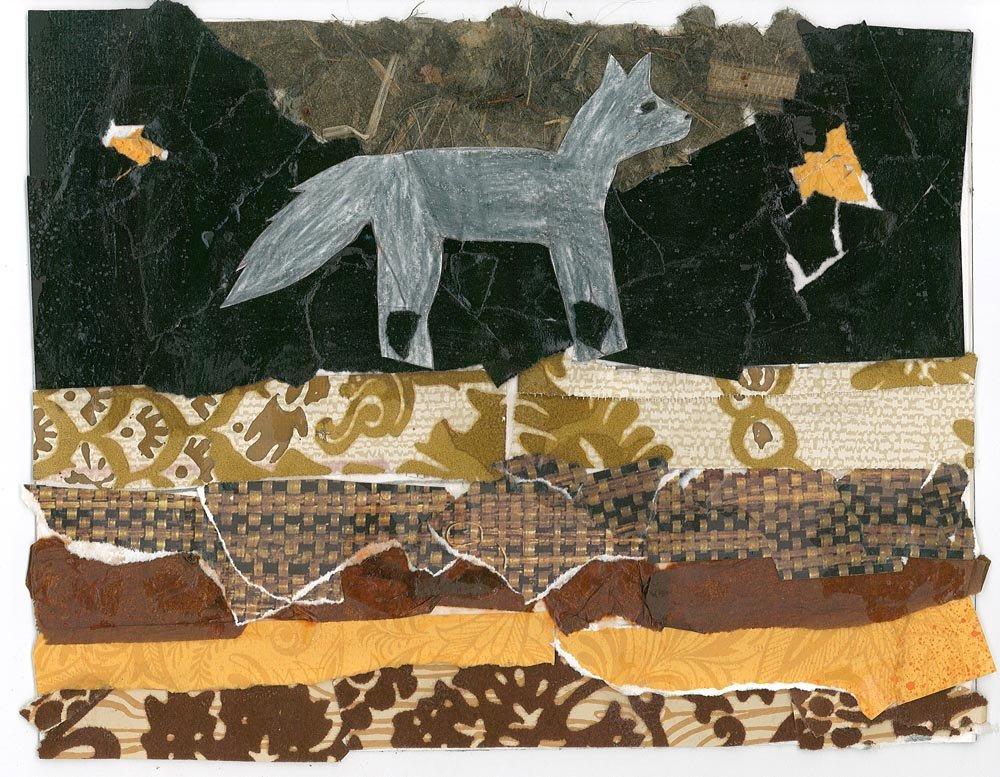 Cut Paper Collage. Kallan (age 10) - 2018