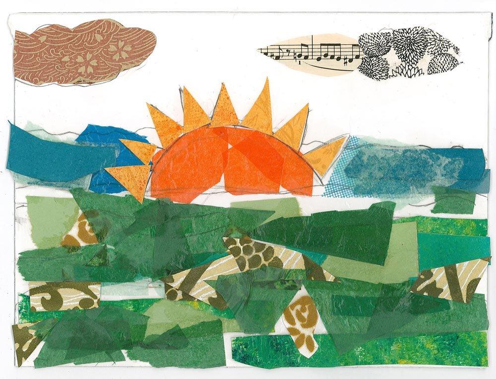 Cut Paper Collage. Lilyanna (age 9) - 2018