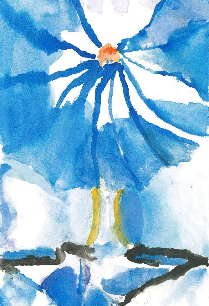 Watercolor.  Kepha (age 8) - 2019