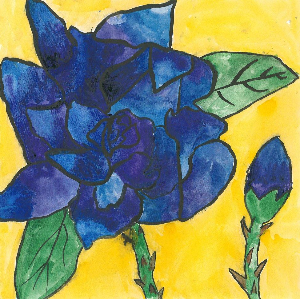 Watercolor.  Dziana (age 11) - 2019