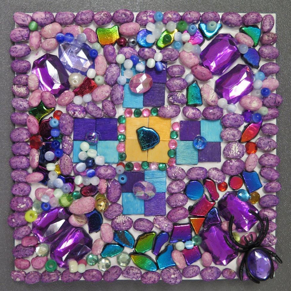 Mixed Media Mosaic.  Nariyah (age 9) - 2019