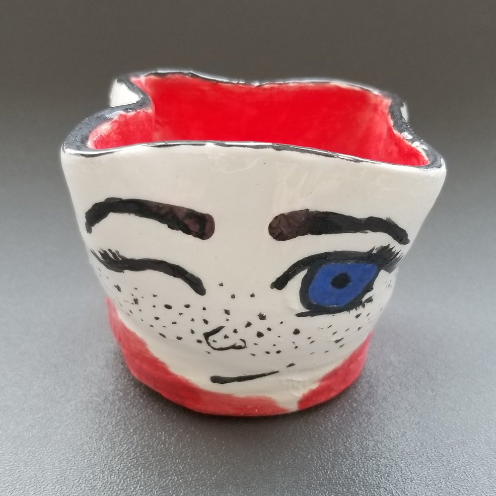 Clay with Painted Glaze.  Ievangelina (age 11) - 2019