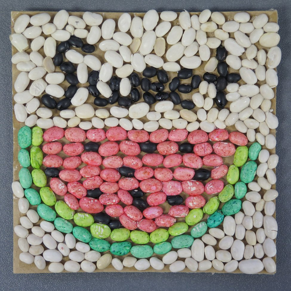 Colored Bean Mosaic. Joaly (age 12) - 2019