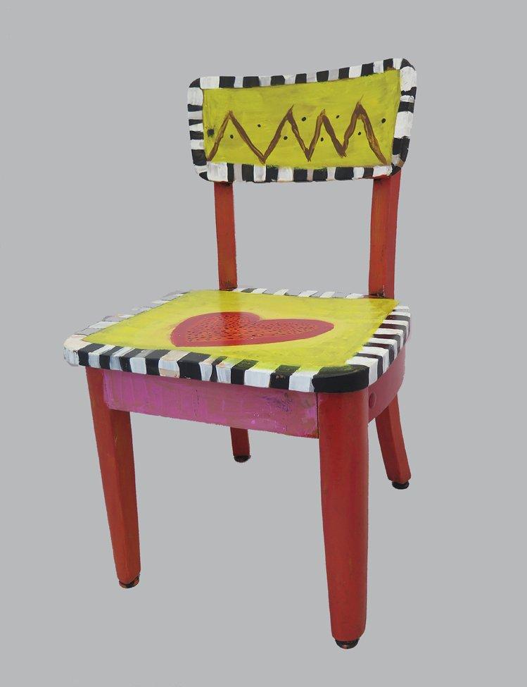 Acrylic Painted Chair. Ta'rae (age 9) - 2018