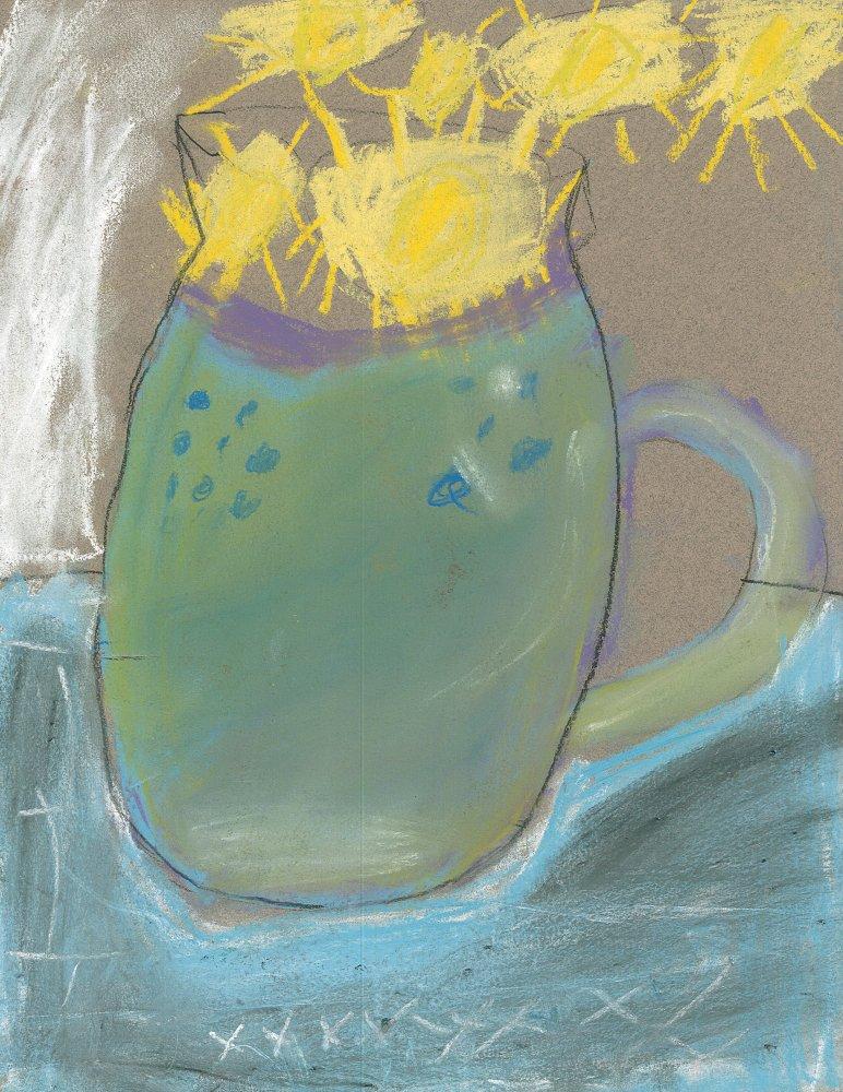 Chalk Pastel. Kerene (age 9) - 2019