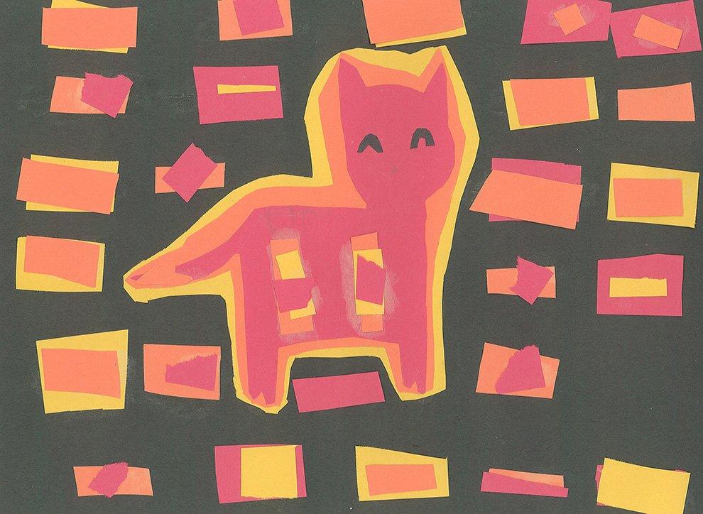Cut Paper Collage. Tempie (age 9) - 2019
