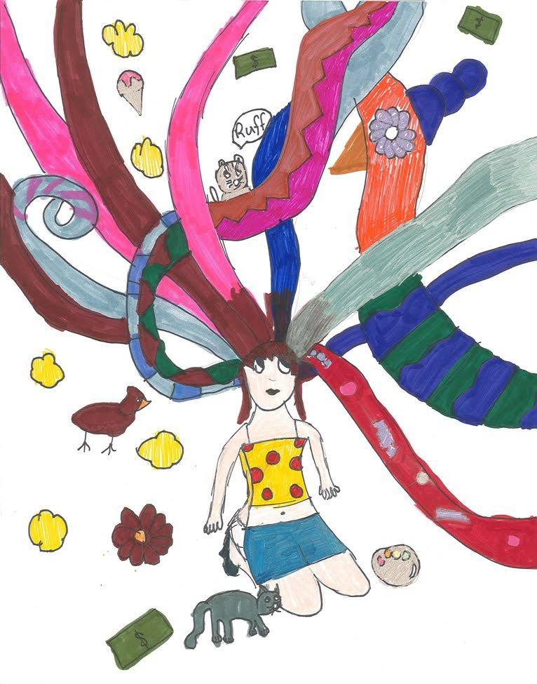 Art Markers. Seleana (age 9) - 2019