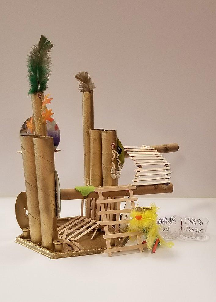 Assemblage Sculpture. Samantha (age 8) - 2020