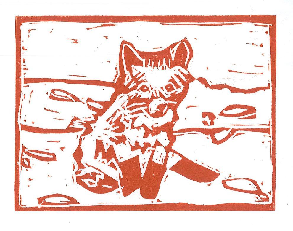 Relief Print. Tempie (age 9) - 2020