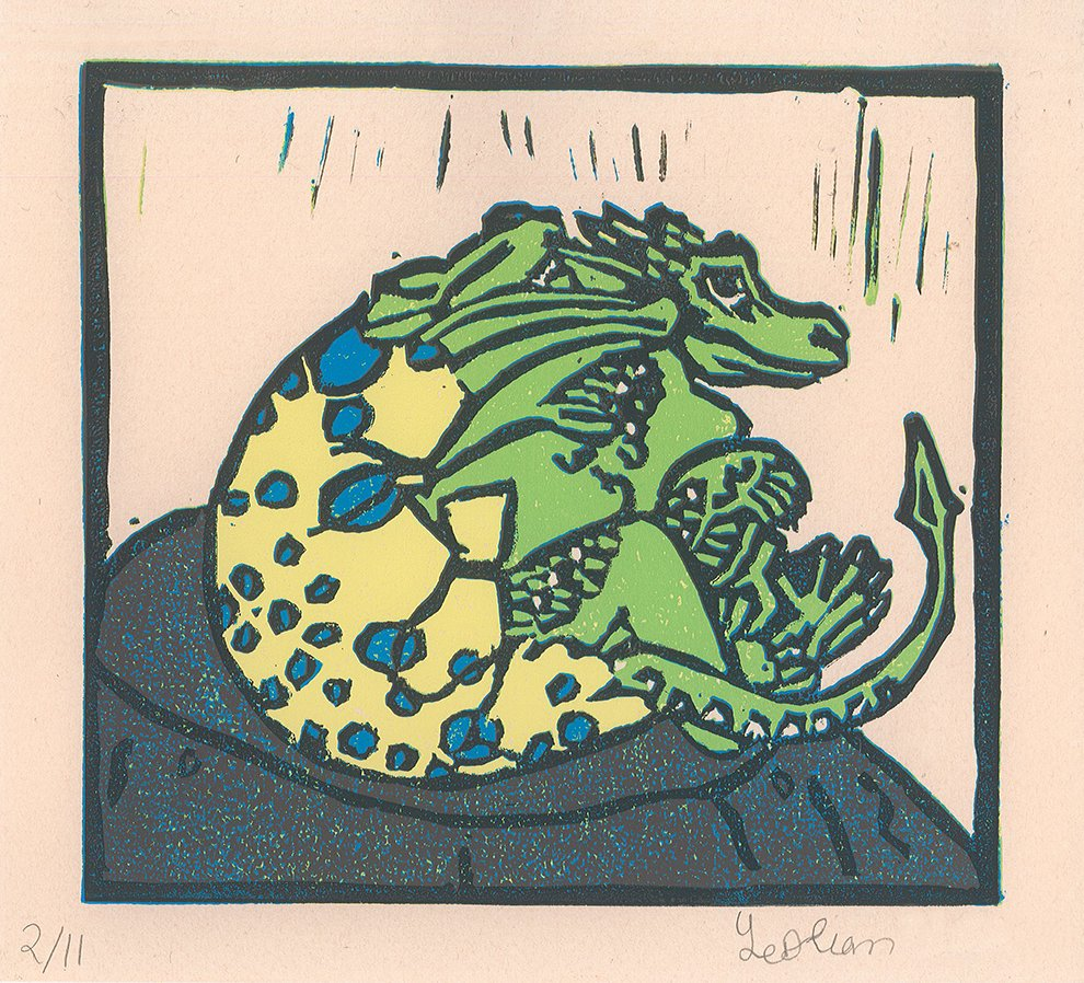 Reductive Relief Print. Yeslian (age 13) - 2020