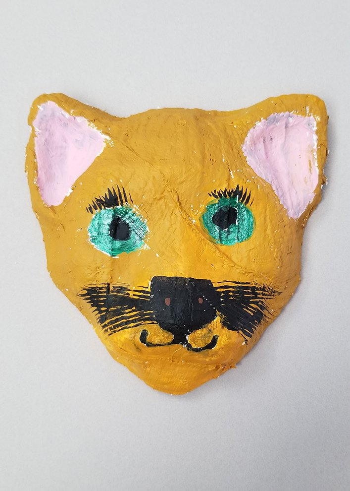 Paper Mache and Paint.  Andrianna (age 9) - 2020