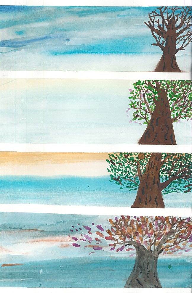 Watercolor. Anjali (age 14) - 2020
