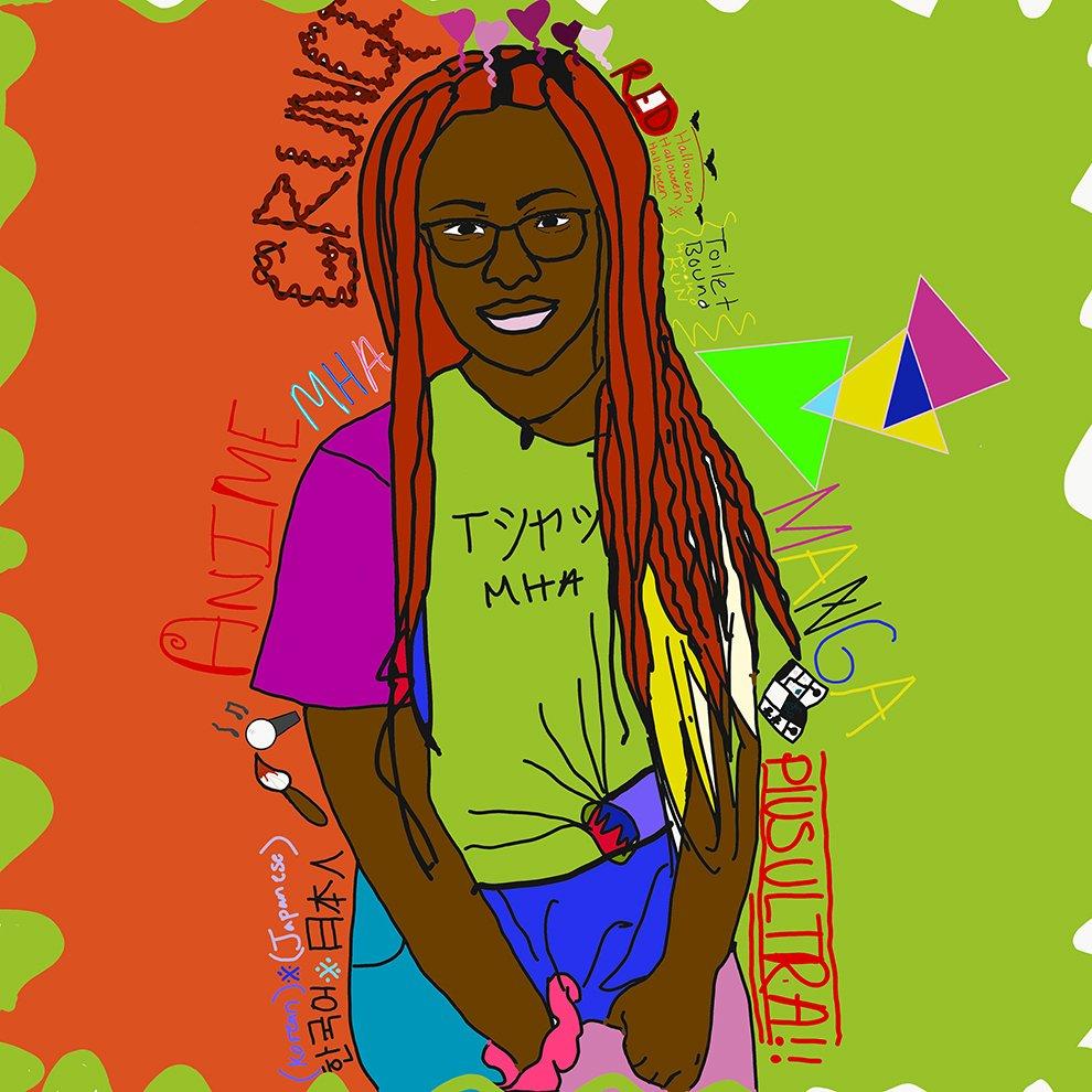 Digital Self Portrait. Celeste (age 13) - 2020