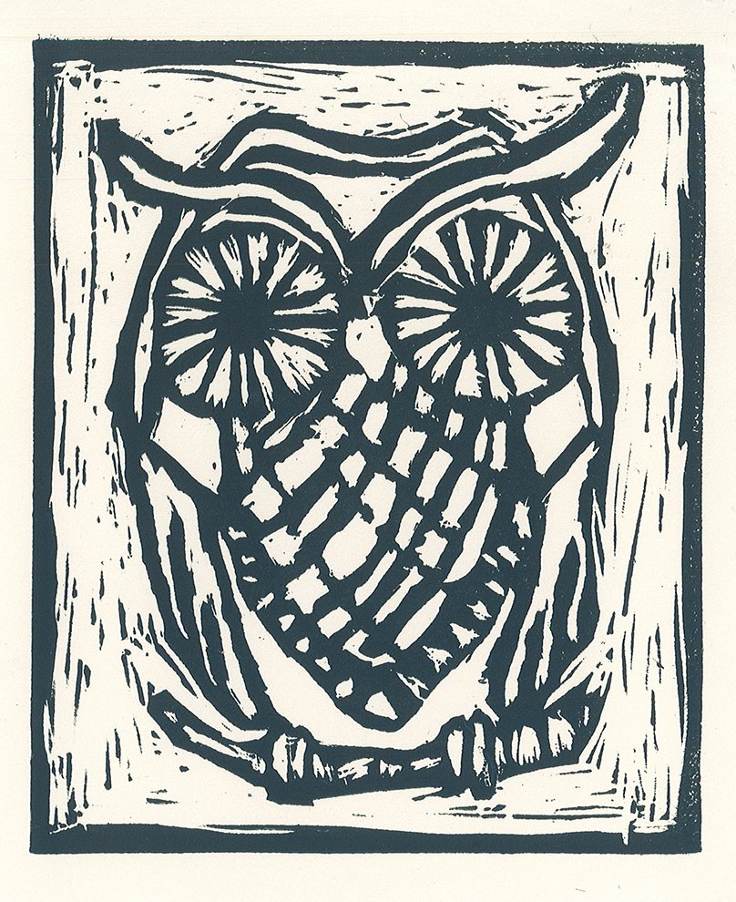 Relief Print. James (age 9) - 2020