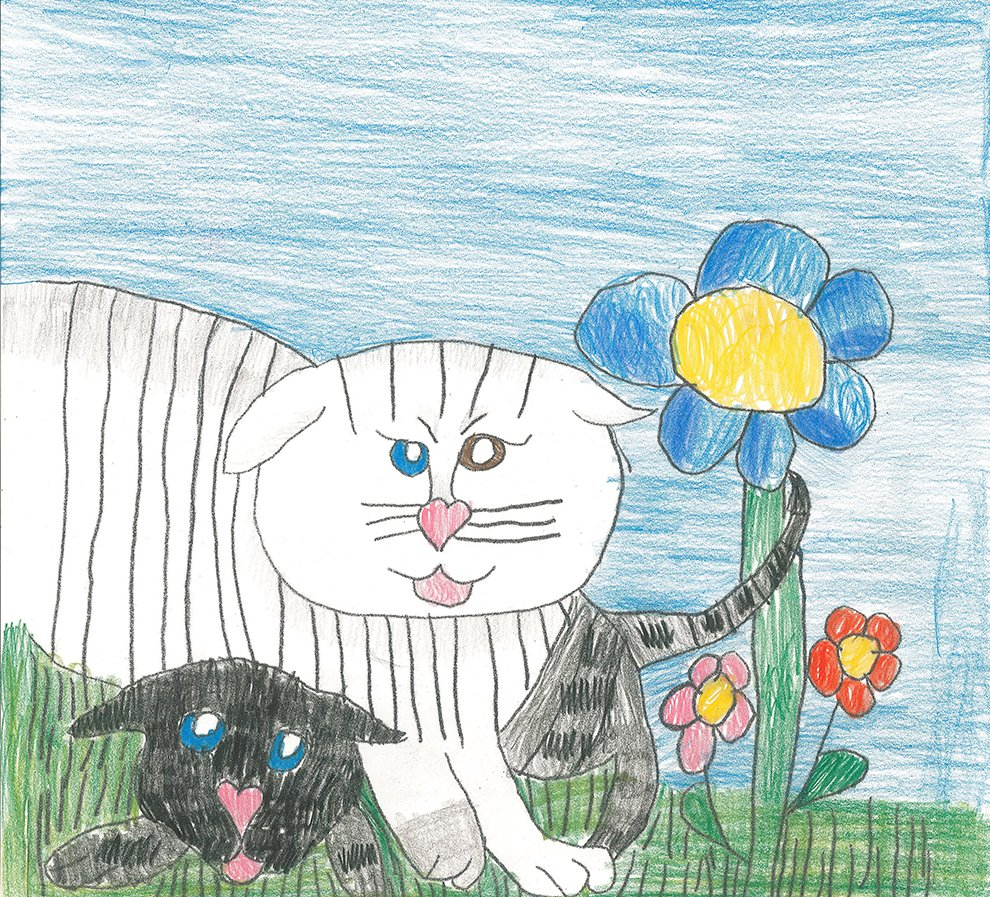 Colored Pencil. Julia (age 14) - 2020