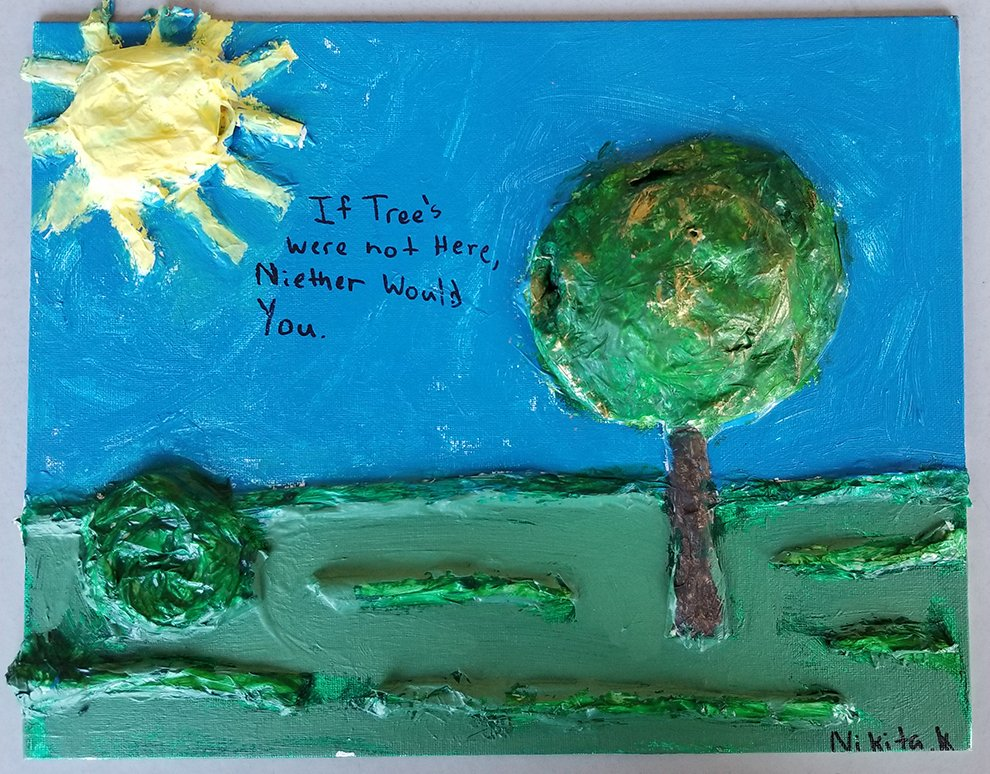 Sculptured Painting. Nikita (age 11) - 2020