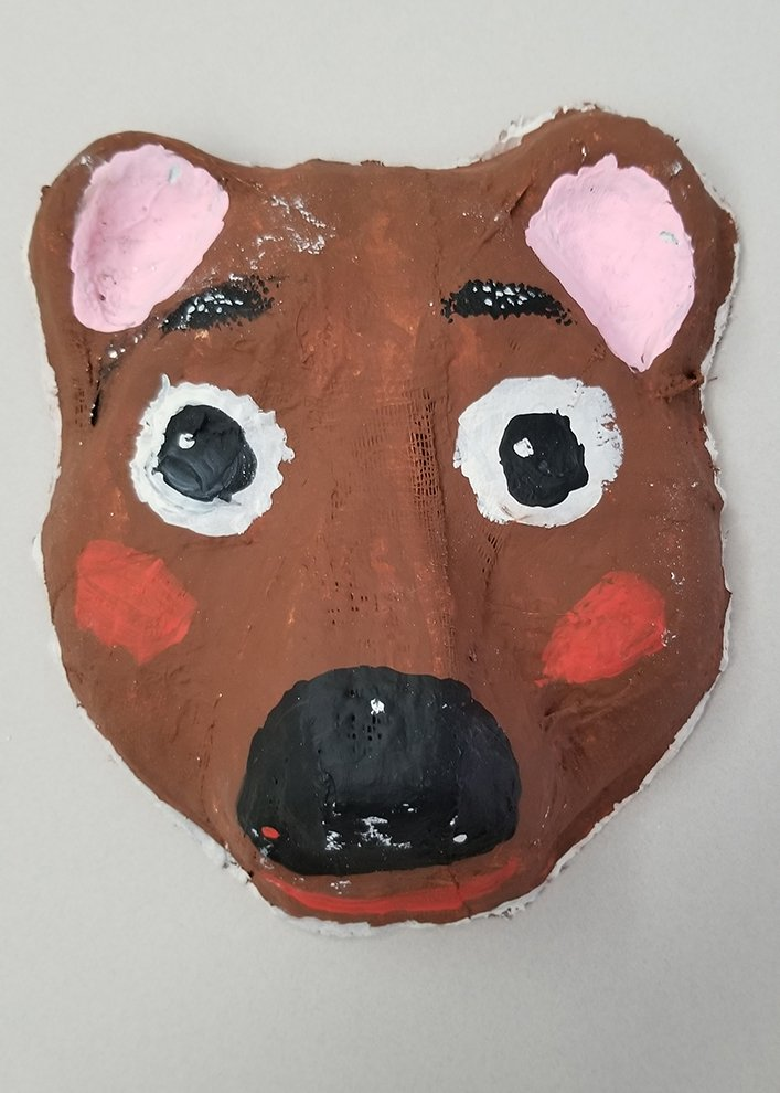 Painted Paper Mache Mask. Riana (age 10) - 2020
