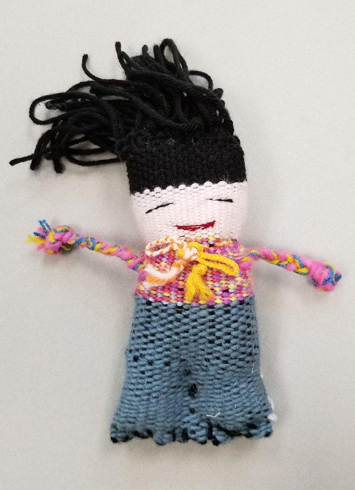 Woven Doll. Estella (age 13) - 2020
