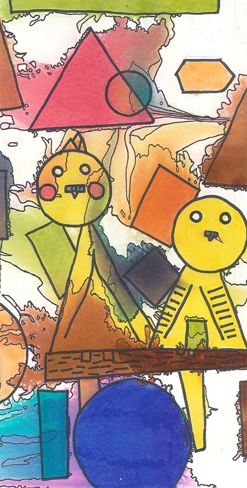 Watercolor and Marker. Samantha (age 8) - 2020