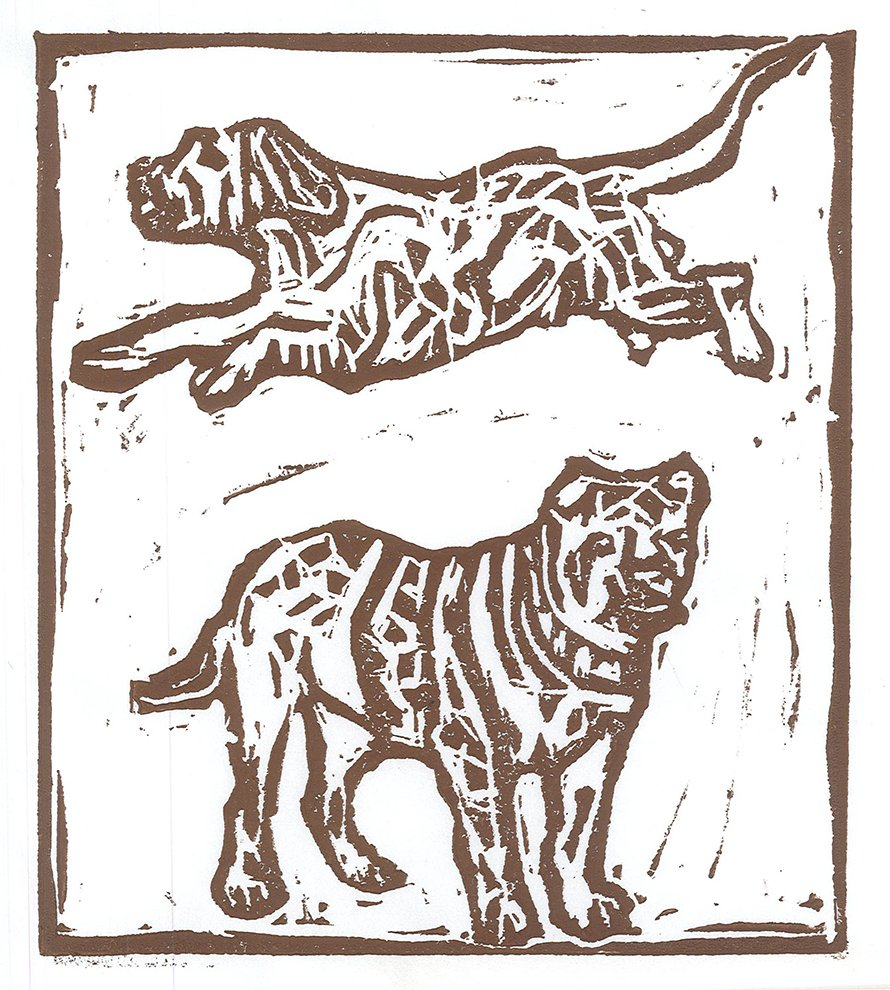 Relief Print. James (age 10) - 2020