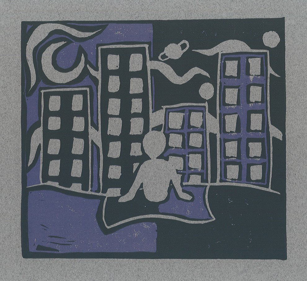 Reductive Relief Print. Sergey (age 11) - 2020