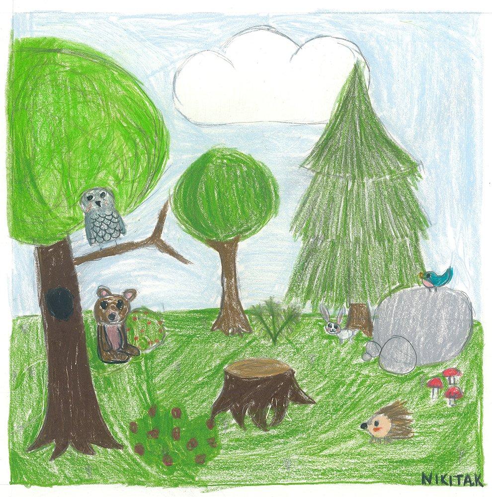Colored Pencil Drawing. Nikita (age 12) - 2021