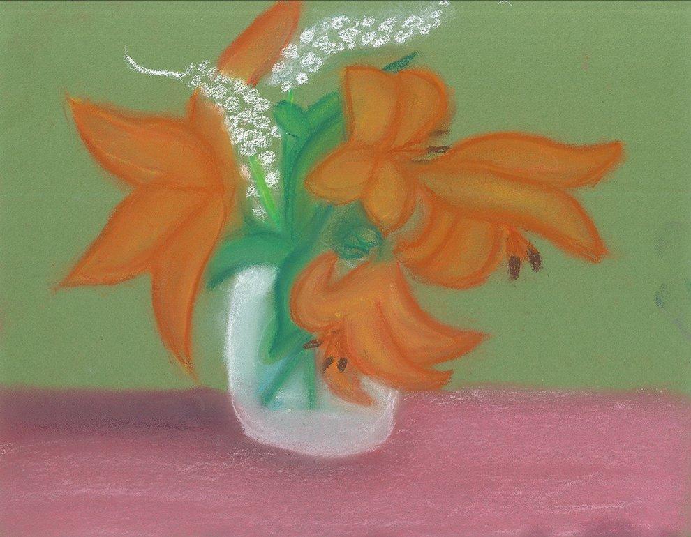 Chalk Pastel. Bella (age 12) - 2021