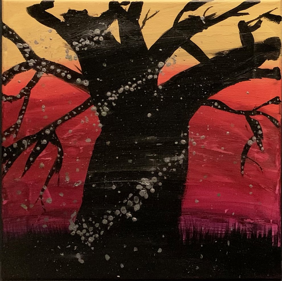 Acrylic Painting. Elaudia (age 12) - 2021