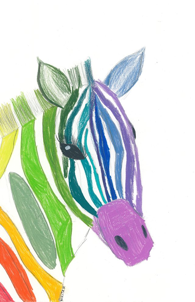 Colored Pencil. Nikita (age 12) - 2021