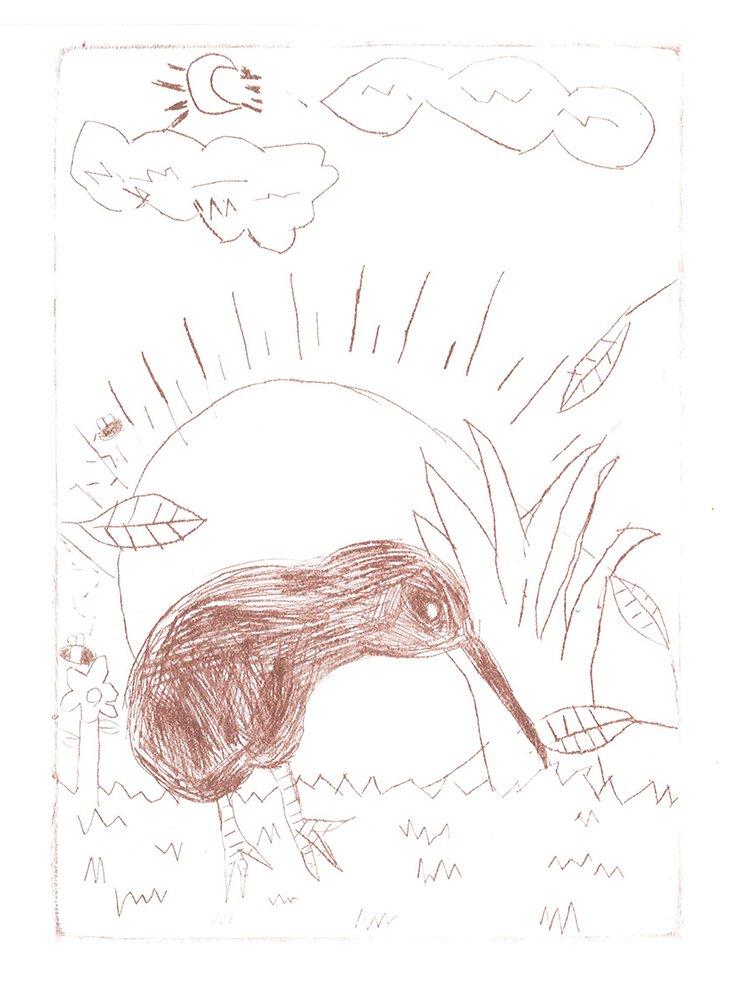 Plexiglass Etching. Samantha (age 9) - 2021