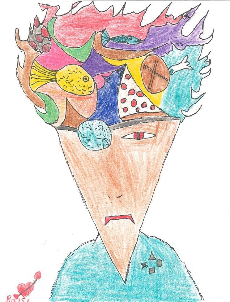 Colored Pencil and Marker. Raisi (age 12) - 2019