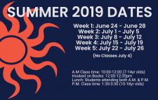 Summer Dates Reminder
