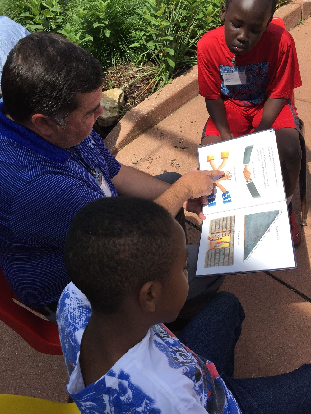 Volunteer Reader at the Neighborhood Art House